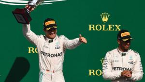 Rosberg and Hamilton.