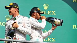Riding their luck: Mercedes pair