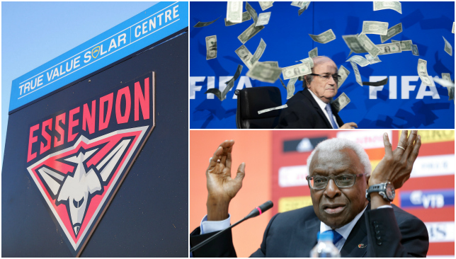 Concern is growing over sporting corruption.