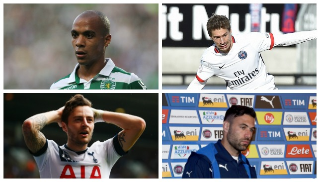 On the move?: Joao Mario, Benjamin Stambouli, Ryan Mason, Salvatore Sirigu.