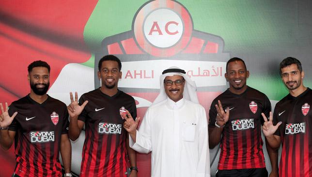 The four Al Ahli players.
