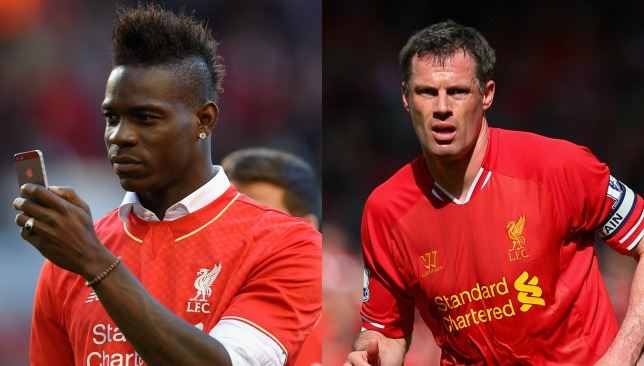 War of Twitter words between Balotelli and Carragher.