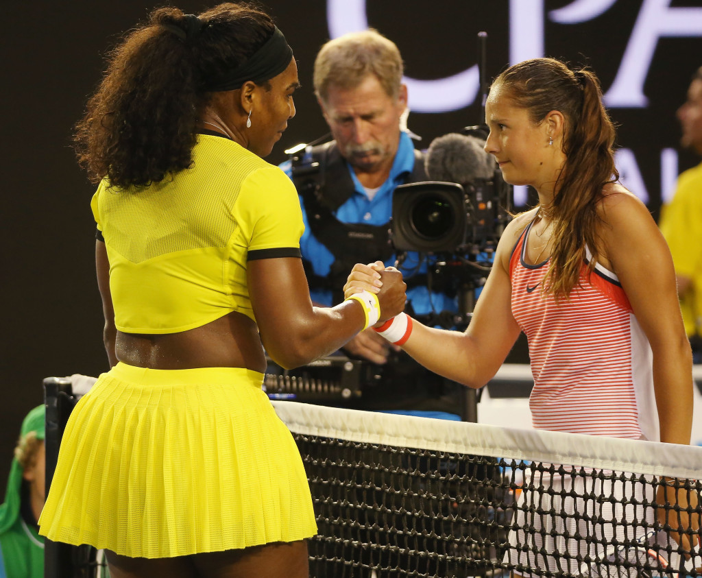 Kasatkina lost to Serena in the Australian Open third round this year.