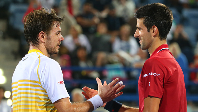Stan Wawrinka and Novak Djokovic.