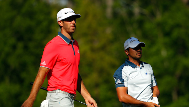 Title rivals: Dustin Johnson and Jason Day.