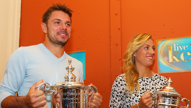 Champions: Wawrinka and Kerber.