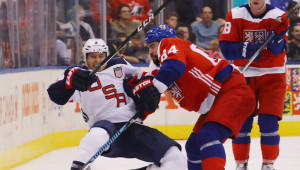 Team USA found life tough against Czech Republic.