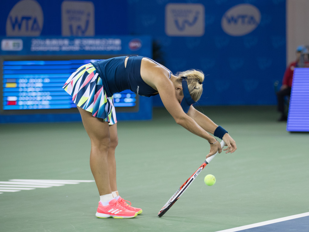 Czeched out: Kerber loses to Kvitova.