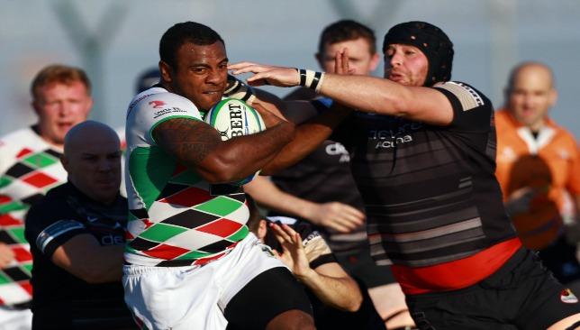 Two giants; Umu and Abu Dhabi Saracens' Jaen Botes clash