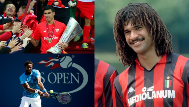 (Clockwise): Ruud Gullit, Gael Monfils and Jose Antonio Reyes.