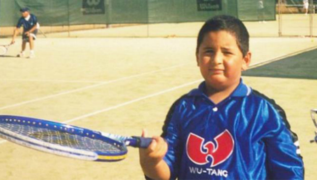 Kyrgios as a youngster.