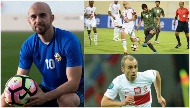 Adrian Mierzejewski is part of a new foreign quartet at Sharjah.