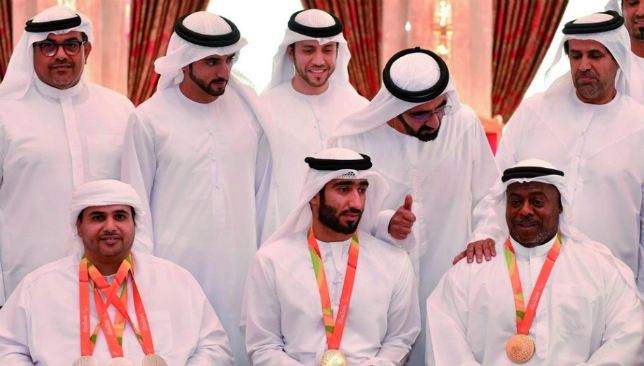 Sheikh Mohammed with Team UAE (credit: WAM)