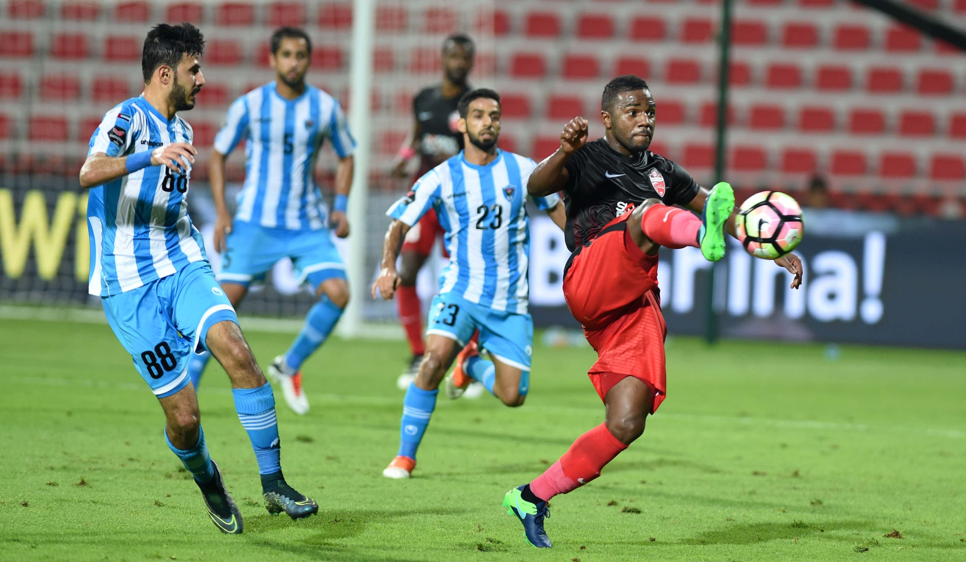 It was a comfortable evening's work for Al Ahli.
