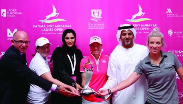 The tournament is hoping to inspire Emirati ladies to take up golf.