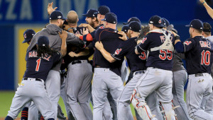 History beckons: The Indians are desperate to emulate the Cavaliers and bring home a second championship to Cleveland in 2016.