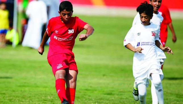 Ruthless in red: Mohamed Hazem.