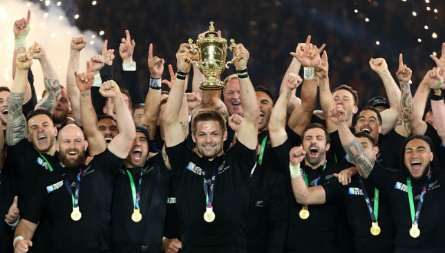 The All Blacks won a second straight World Cup in 2015.