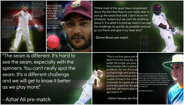 See what the players have had to say about the pink ball in Dubai.