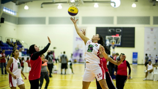 She shoots, she scores: Competition was fierce in the 3x3 tournament in Sharjah.