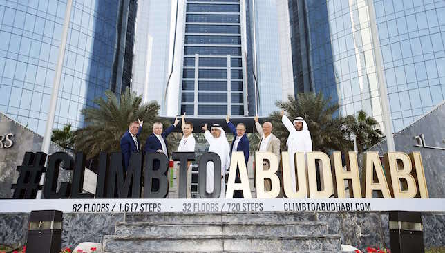 Pic by Chris Whiteoak/whiteoakpictures  FITNESS: Launch of the event Climb to Abu Dhabi. Etihad Towers, Abu Dhabi.