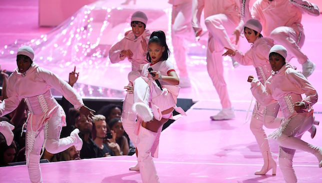 Ready to entertain: Rihanna.