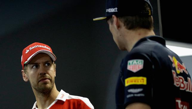 Sebastian Vettel and Max Verstappen.