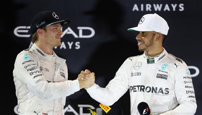 Nico Rosberg and Lewis Hamilton.
