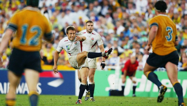 Wilkinson scores the drop goal that won England the World Cup in 2003.