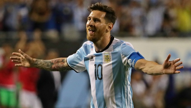 Lionel Messi will be joined by Sergio Aguero, Gonzalo Higuain and Paulo Dybala in attack.