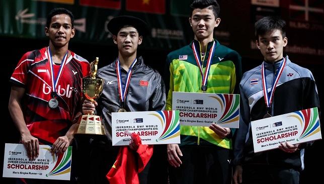Men's singles medallists.
