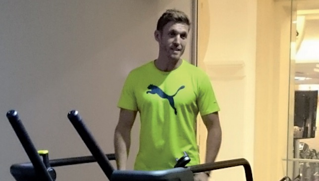Maximum endurance skills: Tom Otton on the TechnoGym Skillmill.