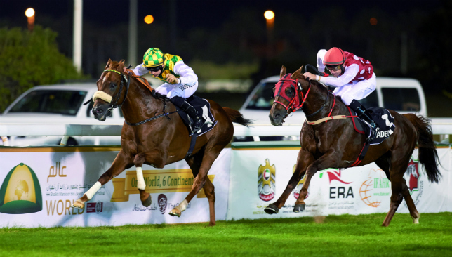Proven power: Thakif (l) en route to winning the President's Cup this year.