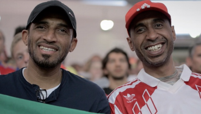 Old friends reunited: UAE stars Abdulrahman Al Haddad (l) and Ali Thani (r) headed to Brazil in 2014 to get reacquainted with coach Carlos Alberto Parreira.