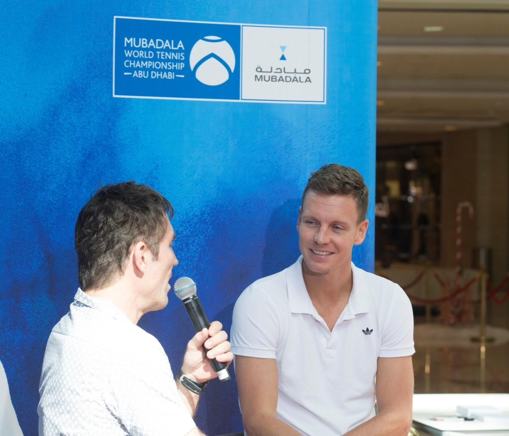 Berdych at Galleria mall on Wednesday in Abu Dhabi.