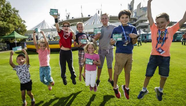 Children celebrating Kids Day last year