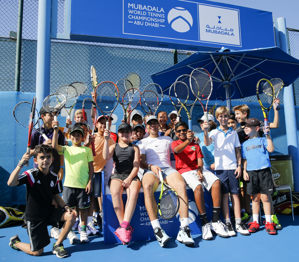 Rafael Nadal's coaching clinic at MWTC 1