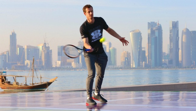Top of the world: Murray in Doha. (Credit: Samer Rejjal)