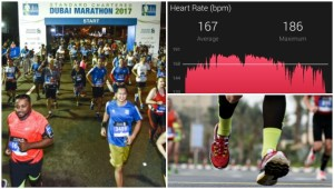 What does a marathon run do to your heart?