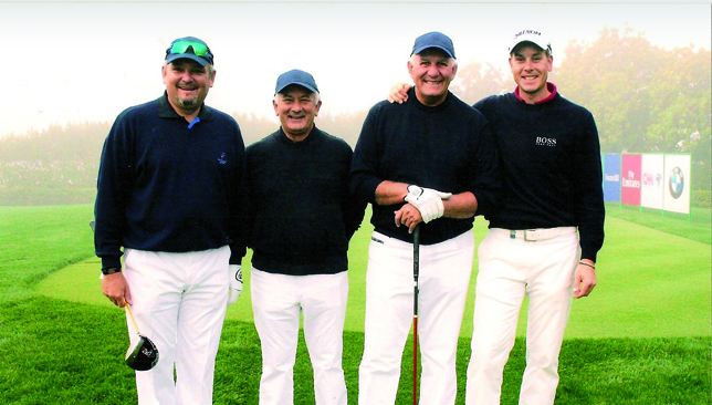 Those were the days: Stenson (r) with Gerbich, Stathis Stathis and Rai Legnar.