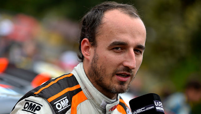 Kubica severed part of his arm in a rally crash in 2011.