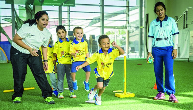 Cricket Cubs focus on agility, balance and hand-eye coordination.