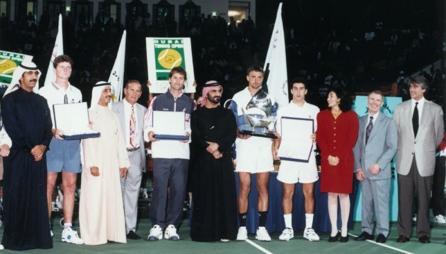 1996 - Ivanisevic secures the trophy.