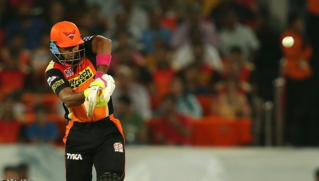 Tare playing for SunRisers last season.