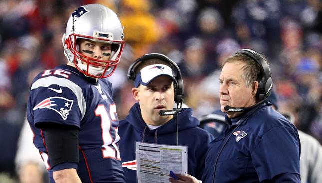 Tom Brady and Patriots coach Bill Belichick.