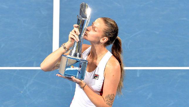 Pliskova after her Brisbane Open victory.