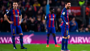 The faces say it all: Barcelona have been second-best.