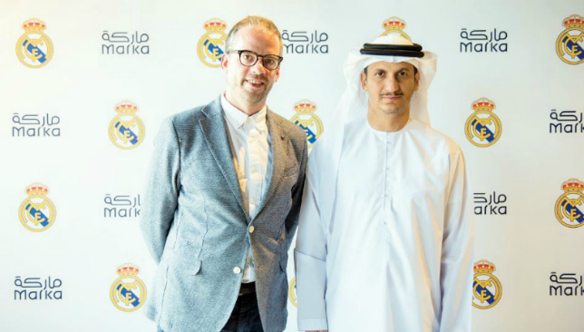Dreaming big: Bruce Bowman, COO of Marka with Khalid Al Mheiri (r), vice-chairman and chief executive of Marka.
