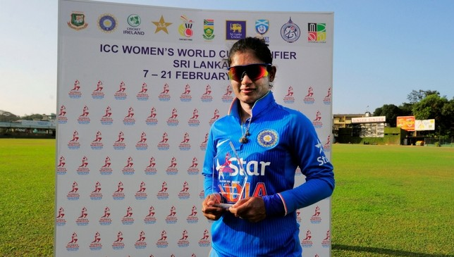 Mithali Raj with her Player of the Match award.