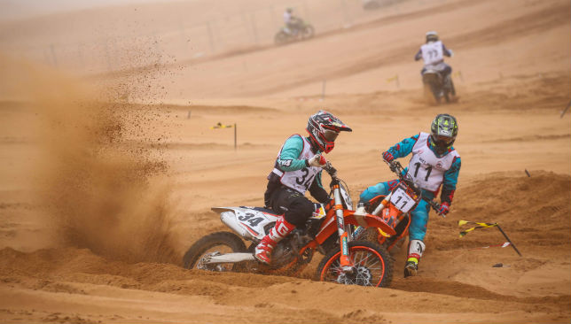 Racers during the MX1 and MX2 races.